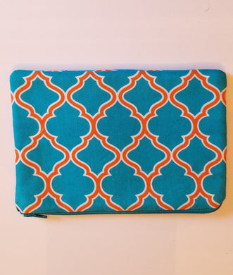 Turquoise Zipper Pouch