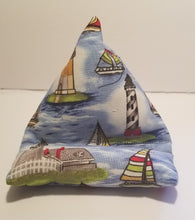 Load image into Gallery viewer, Blue sailboats cell phone pillow
