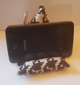 Black and white cell phone pillow