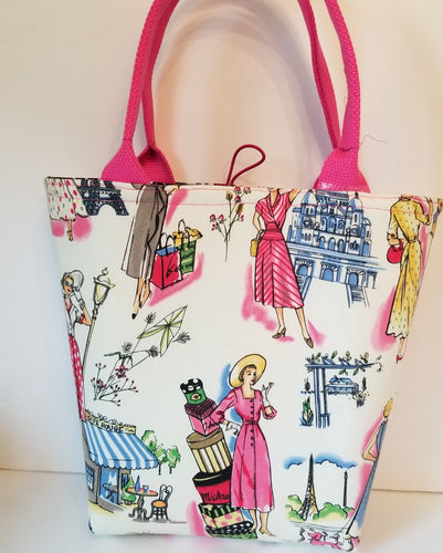 Small tote bag In.French Lady