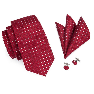 Men Red Tie set