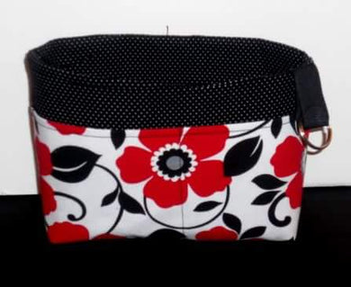 Red Flowers Purse Organizer