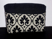 Load image into Gallery viewer, Black/ivory Purse Organizer/Insert