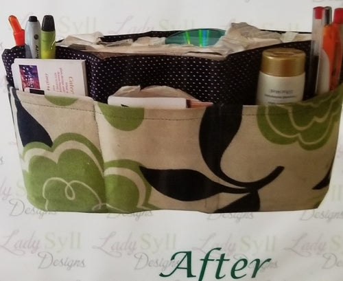 Green Flowers Large Organizer