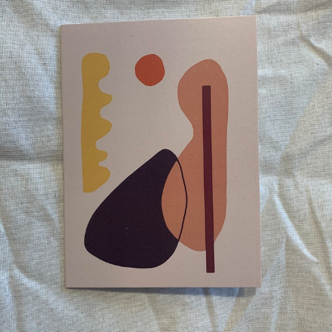 Yellow Abstract Card