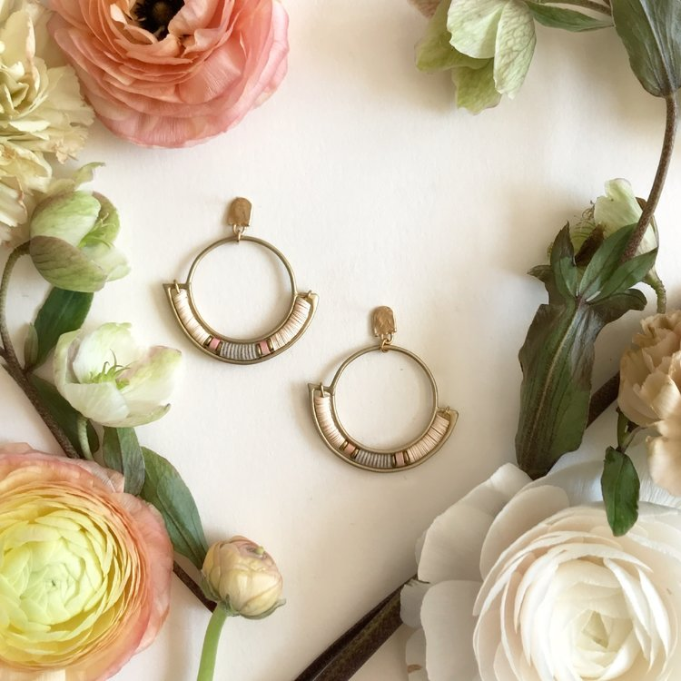Sandstone Portal Hoop Earrings