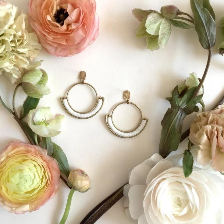 Chalk Portal Hoop Earrings