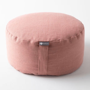 Mod Meditation Cushion | Rose Clay Linen
