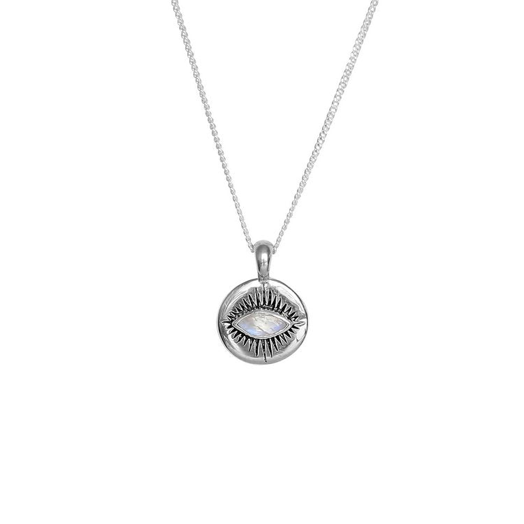 Shasta Necklace | Silver + Moonstone
