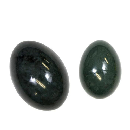 Drilled Nephrite Jade Yoni Egg | Large