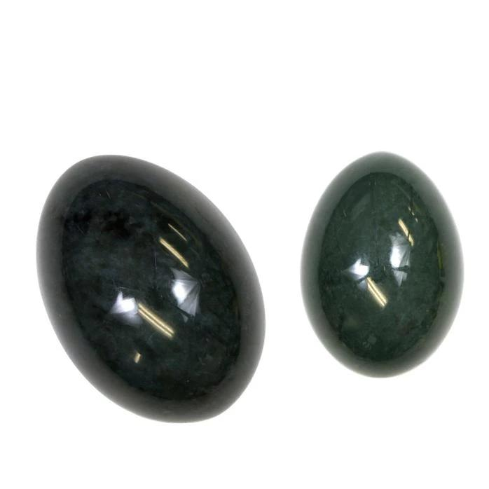 Drilled Nephrite Jade Yoni Egg | Medium