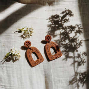 Terracotta La Mexicana Arch Earrings