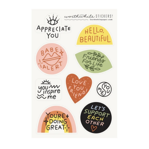 Gender Neutral Friendship Sticker Set