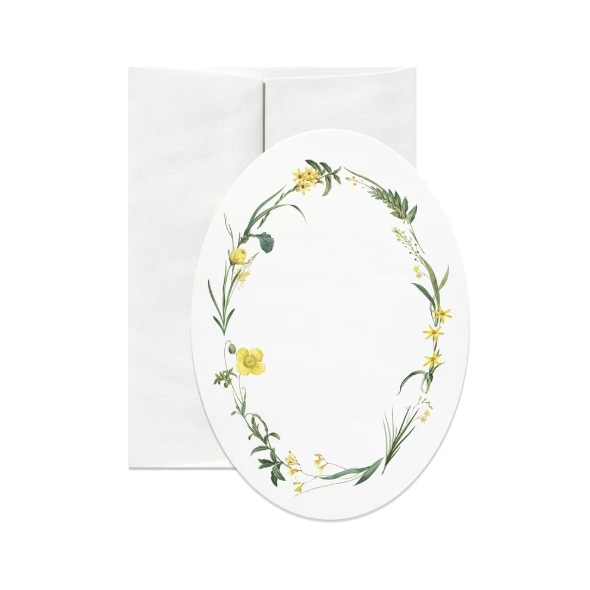 Yellow Oval Greeting Card