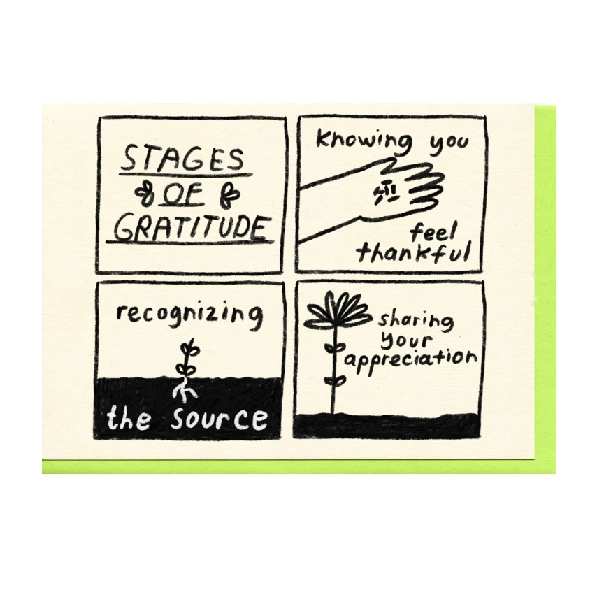Stages of Gratitude Card