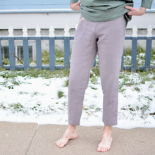 Load image into Gallery viewer, Caffe Mocha Purple Athens Loose Linen Pant