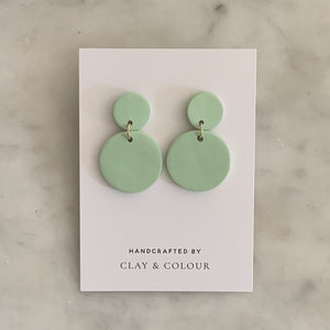 Sage Solid Classic Earrings