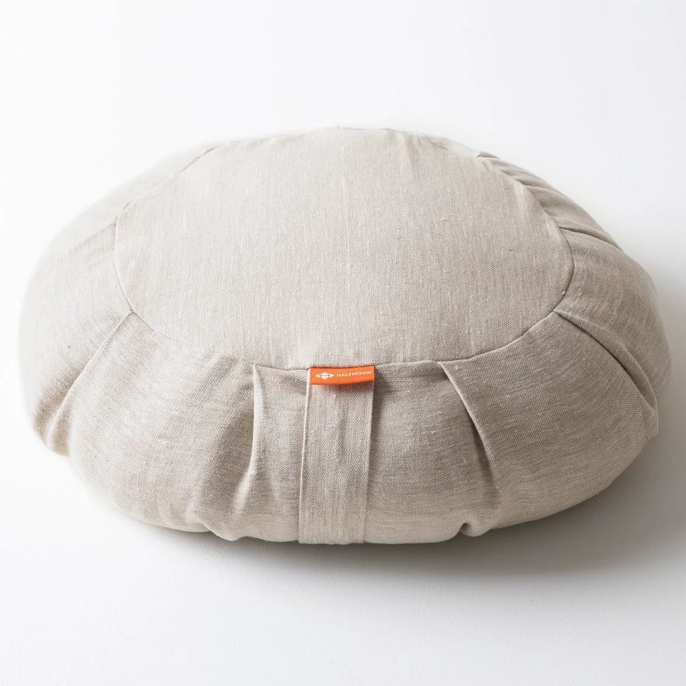 Round Meditation Cushion | Natural Linen