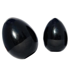 Drilled Obsidian Yoni Egg | Large
