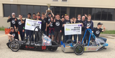 Bluevale C.I. Builds Electric Vehicles with 3D Printed Parts and Wins Waterloo EV Challenge