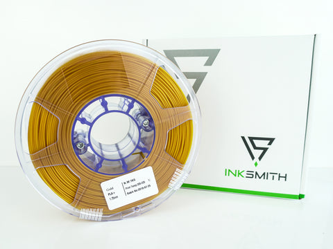 InkSmith PLA 3D Printing Filament Gold