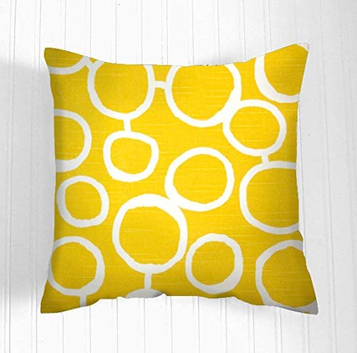 Flowershave357 Yellow Pillow Cover Decorative Pillows Decorative Throw Pillow Pillow Covers Accent Nursery