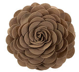 "Fennco Styles Eva's Flower Garden Decorative Throw Pillow with Insert - 13 inch Round (Gold, 13"" Case+Insert)"