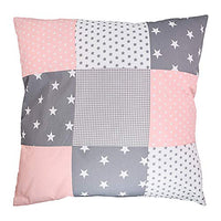 "Soft Cotton Nursery Throw Pillow Cover by ULLENBOOM | Elephant/Star/Polka Dot | Decorative Euro Sham | 20"" x 20"" - Girls Mint/Pink"