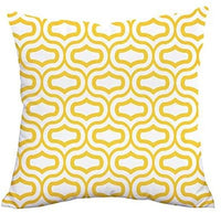 Lemon Yellow Throw Pillow Case Arrow Quatrefoil Accent Trellis Chain Pillow Cover Modern Cushion Cover Square Pillowcase Decoration for Sofa Bed Chair Car Set of 4, 18 x 18 Inch
