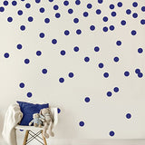 Easy Peel + Stick Gold Wall Decal Dots - 2 Inch (200 Decals) - Safe on Walls & Paint - Metallic Vinyl Polka Dot Decor - Round Circle Art Glitter Stickers - Large Paper Sheet Baby Nursery Room Set