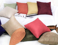 SUPERSaver Set of 2 Faux Suede Throw Pillow Covers 18x18 - Decorative Pillow Covers for Couch or Sofa Bed, Use as Accent Throw Pillows, Decorative Pillows, Couch Pillows - Cushion Cover, Chocolate
