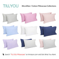 Toddler Pillow with Pillowcase - 100% Egyptian Cotton Baby Pillow for Sleeping - Machine Washable Kids Pillow for Preschool - Small Pillow for Toddler Nap Cot, Airplane Travel, Bed, Crib 13X18 White