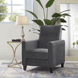 Naomi Home Landon Push Back Recliner Upholstered Club Chair Mocha/Linen