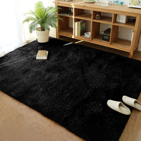 Soft Modern Indoor Large Shaggy Rug for Bedroom Livingroom Dorm Kids Room Home Decorative, Non-slip Plush Fluffy Furry Fur Area Rugs Comfy Nursery Accent Floor Carpet 5x8 Feet, Grey