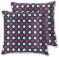 lsrIYzy Decorations Throw Pillow Cushion Cover Set of 2,Retro Large Circles with Inner Stripes Round Spots Kids Nursery,Square Accent Pillow Case 20x20 inches