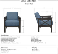 Lexicon Fabric Accent Chair, Blue