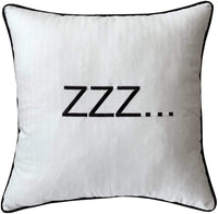 "EURASIA DECOR DecorHouzz Sleep Sentiment Embroidered Pillow Cover Cushion Cover Pillow Cases Throw Pillow Decorative Pillow Wedding Birthday 12""x20"" (Ivory)"