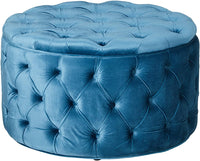 Christopher Knight Home Living Zuma New Velvet Ottoman (Aqua), Baby Blue