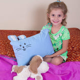 "Toddler Pillow Case -100% Cotton-for 13""x18""and 14""x19"" Pillows - Blue"