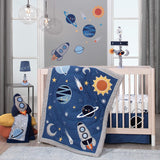 Lambs & Ivy Milky Way Rocket Ship Nursery Throw Pillow Plush