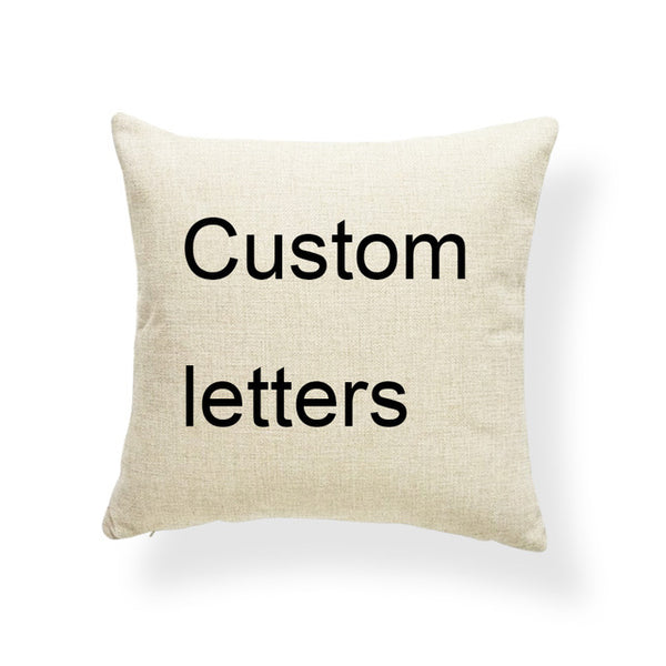 Letter Cushion Sweet Home Pillowcase Minimalist Recliner Home Decoration Throw Pillows Accent 17X17 Polyester / Cotton Printed