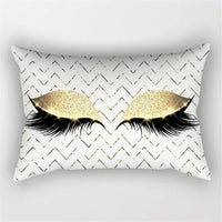 New Cute Soft Pattern Pillow Cases Creative Eyelash Polyester Pillow Cases Waist Throw Cushion Cover Home Decor Pillow Cases Hot