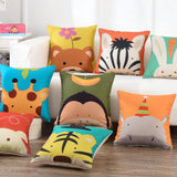 Cute Cartoon Printing Linen Square Sofa Children Cushion Cover Nap Throw Pillow Case Decorbox Home Decor Household Supplies
