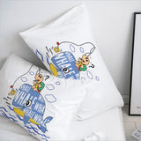 3D Pillow Case Pillowcase Custom/50x70/50x75/50x80/70x70 Decorative Pillow Cover,Kids Bedding for baby/boys,Cute Bear