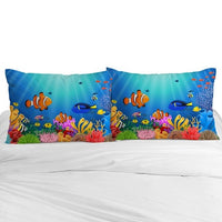 3D Cartoon Pillow Cases Custom,2 PCS Pillowcase 45*45 for kids/baby/children,Decorative Pillow Cover,Bedding Mermaid