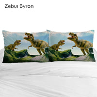 3D Cartoon Pillow Case for Children/Baby,2 PCS Kids Pillowcase 50x70/50x75/50x80,Decorative Pillow Cover Bedding giant dinosaur