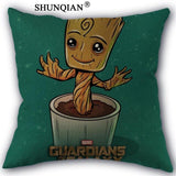 Home pillowcase Covers Baby Groot Cotton Linen Pillow Cover Bed Nordic Decorative Pillow Case 45x45cm One Sides