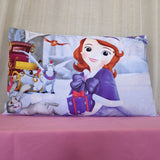 Disney Pink Princess Pillow Case Sham for Kids Bedroom Decor 3d bedding Girls Pillow Cover 1 piece 48*74 cm Children's Baby Room