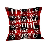 Cotton Linen Square Throw Pillow Cover For Sofa Chair Bed Letter Printed Decorative Pillowcase Cushion Accent