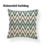 Accent Pillow Geometric Chevron Striped Toss Pillow Kilim Cushion Cover Farmhouse 17 Woven Linen Home Sofa Car Decorative Pillow